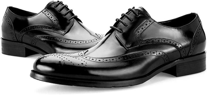 KTYXGKL Chaussures rétro en Cuir pour Hommes Sculptant Les Chaussures Tendance Britanniques Bottes en Cuir pour Hommes (Couleur   noir, Taille   42)