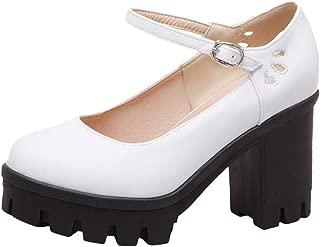 RAZAMAZA Woman High Heel Mary Jane Shoes Round Toe Platform Pumps
