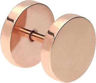 PIERCINGLINE Piercing tipo plug, de acero quirúrgico, rosa