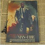 qwerz Poster Denzel Washington Filmplakat Retro