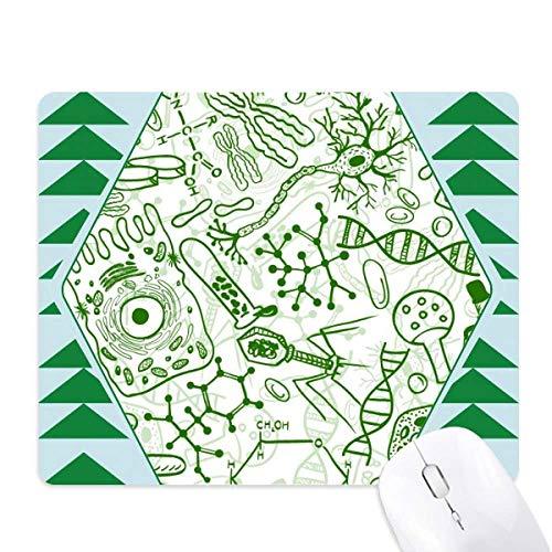 Groene microscoop cellen structuur Biologische muismat groene dennenboom rubberen mat