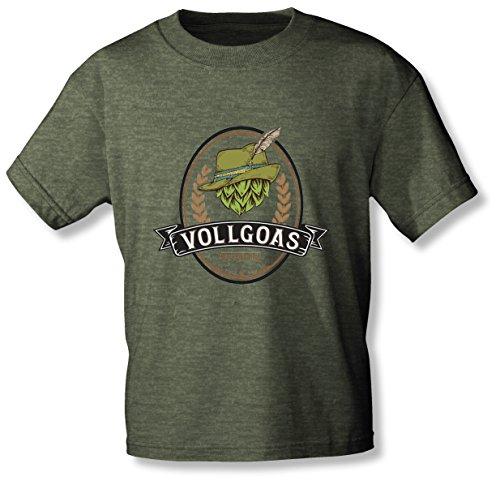 VOLLGOAS - das Original! - T-Shirt: Das Shirt Goasmaß to GO (XL, grün meliert)