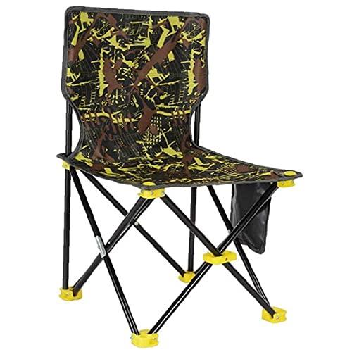 Silla Plegable de Campamento Sillas Plegables livianas Portátil al Aire Libre Silla de Camping de la Espalda Alta para al Aire Libre