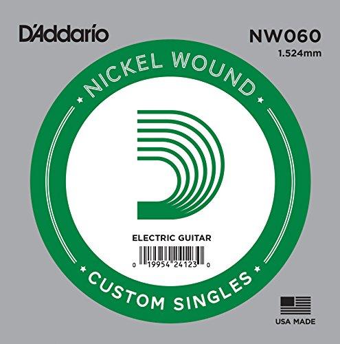 D'Addario NW060 Nickel-Einzelsaite für Gitarren 0,15 cm (0,060 Zoll)