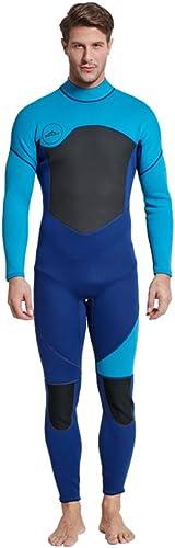 Mars Jun Combinaison de plongée Hommes,Manches Longues Combinaison Néoprène Fermeture réglable au Cou, Combinaison à glissière Facile - pour Le Surf, la plongée