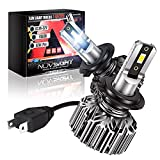 NOVSIGHT H7 LED Headlight Bulbs, 12000 Lumens 300% Super Bright Conversion Kits 60W IP68 Waterproof, High Beam Low beam 6500K Cool White, Extremely Fast Cooling Halogen Replacement