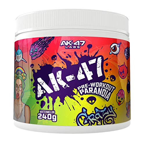 AK-47 Labs AK-47 Pre-Workout Paranoia Booster Trainingsbooster Fitness Bodybuilding (Watermelon - Wassermelone), 240 g