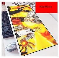 ゲーミングマウスパッド, キーボードパッド用大型マウスパッド/マット非滑らせゲーマーゲーミングマウスパッドのラップトップノートブックオフィスデスクコンピュータマットXL XXL 900X400大型-6 (Color : Large size1, Size : 900X400X3MM)