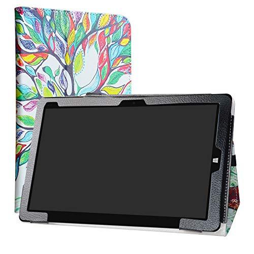 Chuwi Hi10 Air Funda,LiuShan Folio Soporte PU Cuero con Funda Caso para 10.1' Chuwi Hi10 Air Android Tablet (Not fit CHUWI Hi10 /Hi10 Plus),Love Tree