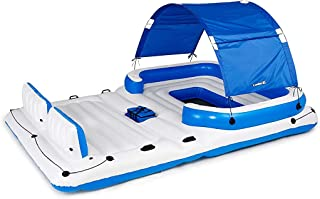 Bestway CoolerZ Tropical Breeze Floating Island Raft | Giant Inflatable Pool Float For Adults | Includes Canopy, Cupholder...