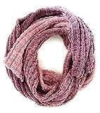 Schal handgestrickt Unikat rosé flieder altrosa