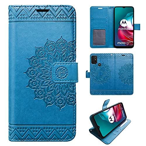 betterfon Hülle für Motorola Moto G10 / G20 / G30 - Handyhülle Moto G10 / Moto 20 / Moto G30 Flip Hülle Klapphülle Schutzhülle mit Kartenfächer für Motorola Moto G10 / G20 / G30 Blau