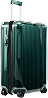 Transparent Cover Skin for 2018 Rimowa Essential Collection Luggage Suitcase With Black Zipper(Cabin Plus)