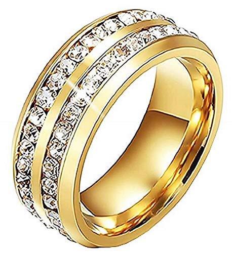 Inception Pro Infinite - Anillo de banda – Alianza – Color dorado – Elegante – Hombre – Mujer – Unisex (IT 22)