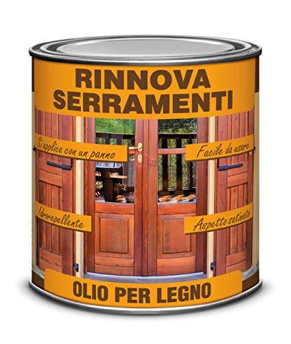 Veleca RINNOVA SERRAMENTI ml. 750 OLIO PER LEGNO - aspetto SATINATO CERATO