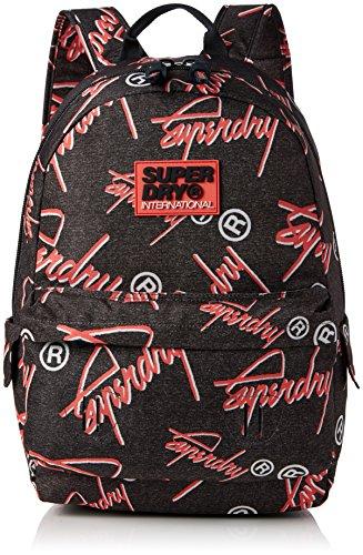 Superdry - Super Crew Montana, Bolsos mochila Mujer, Grigio (Grey Grit/coral), 30.0x45.0x13.0 cm (W x H L)