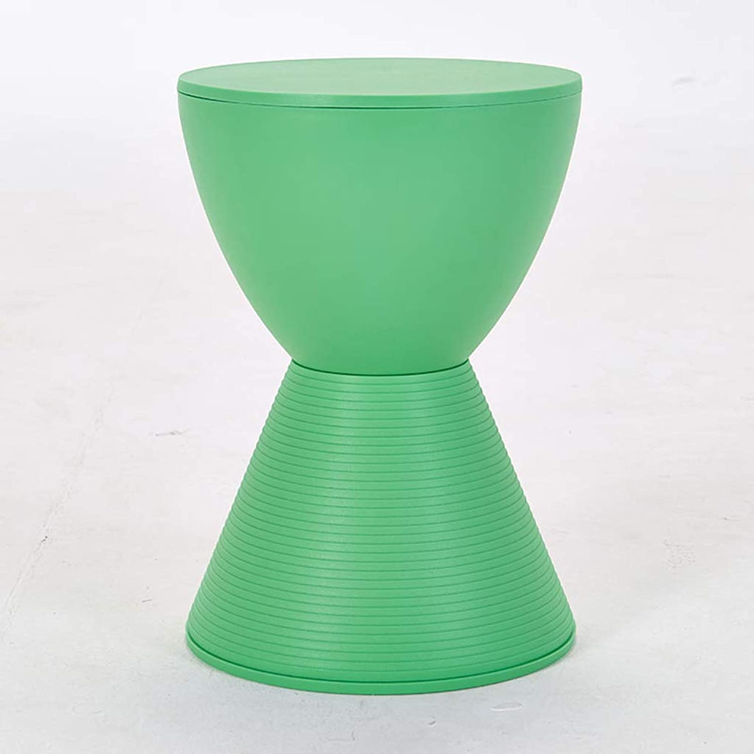CXQ Modern Household Simple Fashion Creative shoes Low Stool Hourglass Plastic Small Bench (color   Green)