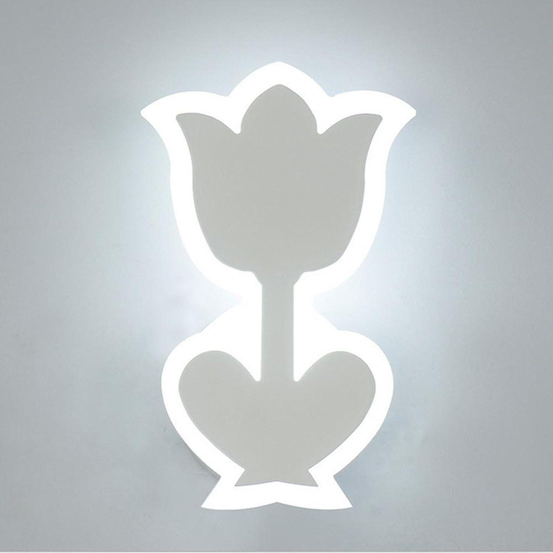 JIANREN Acryl-Wandleuchte Moderne minimalistische Schlafzimmer Wandlampe kreative Pastorale Wohnzimmerlampe stilvolle Acryl Blaumen und warme Persnlichkeit Nachttischlampe