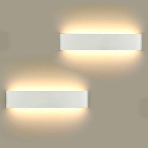 Lámpara de Pared LED 2 unidades, 16 W Lámpara de Pared Moderna Para Interior Para Lámpara de Baño, Salón, Dormitorio,...