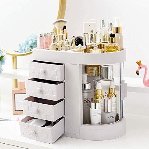 Organizador de maquillaje transparente para organizar fácilmente tus joyas de cosméticos y accesorios para el cabello con 4 cajones.