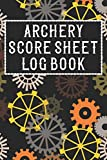 ARCHERY SCORE SHEET LOG BOOK: Cool Archery Coaching Journal Notebook - Gifts Idea for Archery Training Sports workbook for Kids Men & Women
