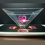 3D Hologramm, Bausatz Projektion Displayschutzfolie für Handy Smartphone und Tablet