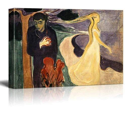haiyilan Wandkunst Dekorationen Trennung 1896 Von Edward Munch Gedruckte Gemälde Bilder Leinwanddrucke Leinwand Malerei Poster BildDekor für Badezimmer Wanddrucke Mode Einfach Leinwanddrucke Wandkun
