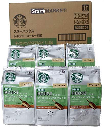(粉)スターバックス「Starbucks(R)」 ディカフェブレンド中細挽きタイプ 1ケース  【1袋(140g)×6】