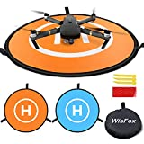WisFox Landing Pad Drone Tapis D'atterrissage Pliable et étanche Diamètre 75 cm pour DJI Mavic