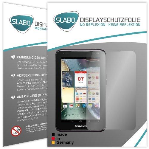 Slabo 2 x Bildschirmschutzfolie Lenovo IdeaTab A1000 Bildschirmschutz Schutzfolie Folie No Reflexion|Keine Reflektion MATT-Entspiegelnd MADE IN GERMANY