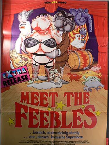 Meet The Feebles - Peter Jackson - Videoposter A1 84x60cm gefaltet (g)