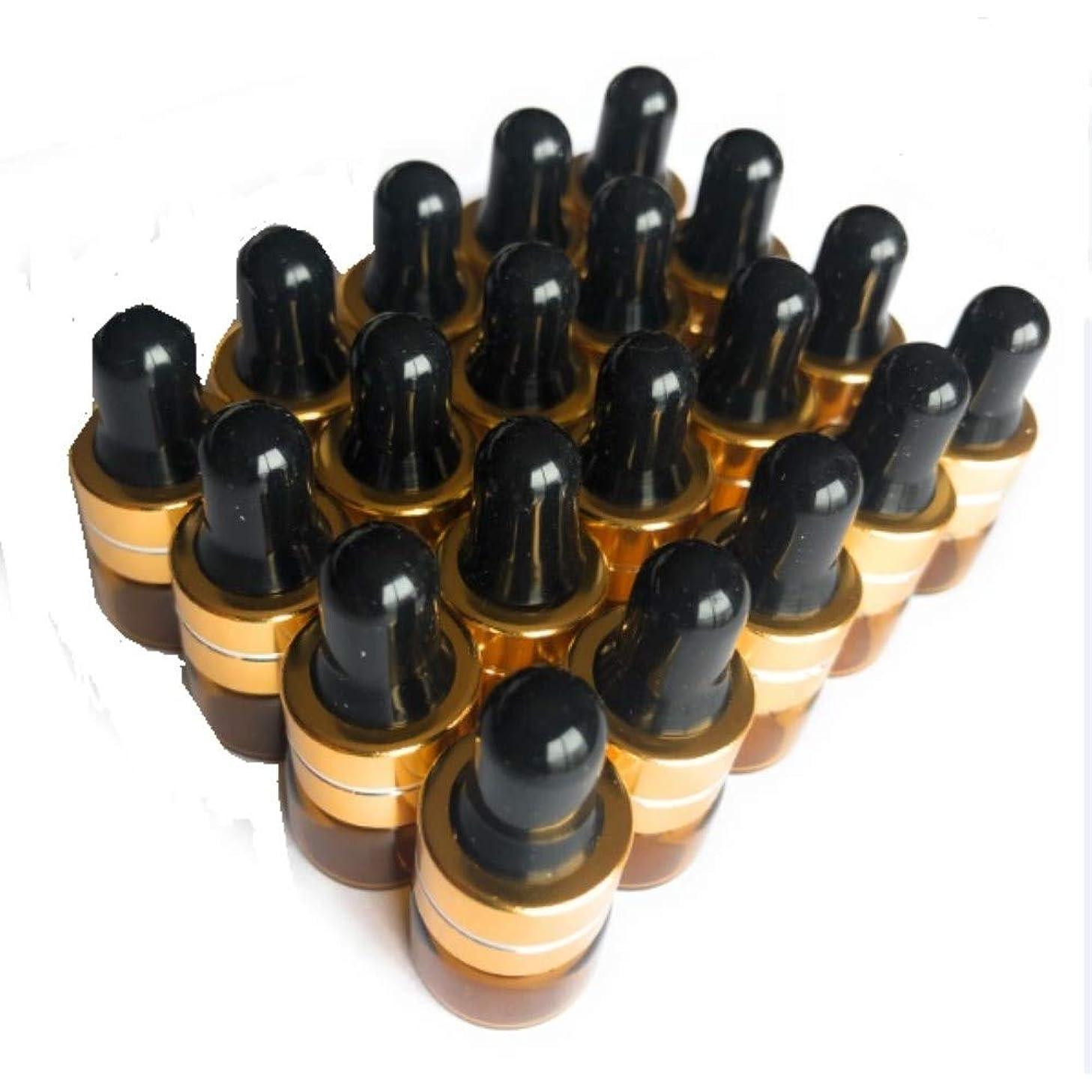 高める藤色活性化するits 遮光瓶 アロマオイル 精油 小分け用 ガラス製 保存容器?茶色 (20本 セット 1ml)
