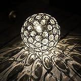 Solarbetriebene Warmes Weißes Hängend Kugel Licht - Wasserfest Solarlampen mit Eingebaut Nachtsensor und Kette - Solarleuchten / Solar Lampen / Solar Laterne für Außen, Draußen, Garten,...