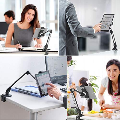 ZenCT Tablet Halterung, Desktop-Ständer Multi-Winkel Aluminium Tablet Halter für iPad Pro Air Mini, Galaxy Tab, E-Reader 4,7-12,9 Zoll Geräte