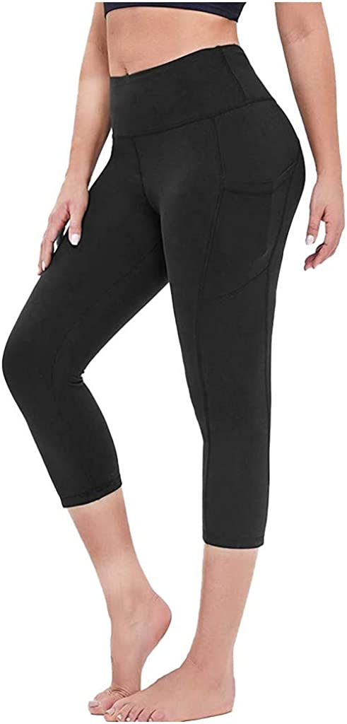 Euone_Clothes Yoga Pants for Women, Women's Stretch Yoga Leggings Fitness Running Gym Sports Pockets Active Pants