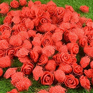 Satyam Kraft Artificial flower Rose For Wedding Box, Hat Decoration,DIY Artificial Garland Supplies 100 Pcs