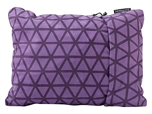 Therm-a-Rest Compressible Travel Pillow for Camping, Backpacking, Airplanes and Road Trips, Amethyst, Large - 16 x 23 Inches