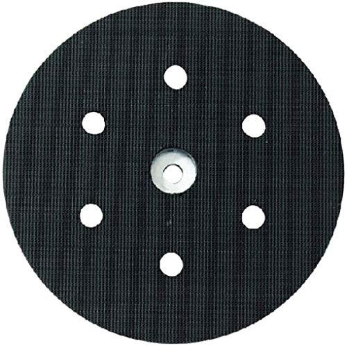 Metabo 631156000 631156000-Plato de Apoyo con Enganche Velcro 150 mm 8 Perforaciones dureza Blando, 0 V, Negro, Size