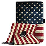 Fintie Rotating Case for iPad Mini 3/2 / 1-360 Degree Rotating Smart Stand Protective Cover with Auto Sleep/Wake for iPad Mini 1 / iPad Mini 2 / iPad Mini 3, US Flag