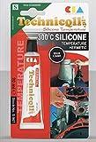 Technicqll Mastic adhésif silicone haute température Noir 20 ml Résistant à la chaleur jusqu'à...