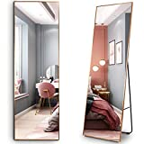 LVSOMT Full Length Floor Mirror, Free Standing Body Mirror, Wall Mounted Hanging Mirror, Large Dressing Mirror, Leaning Against Wall Mirror, Big Mirror for Bedroom Living Room Locker Room, 63'x19'