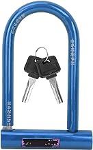 YOPOTIKA Bike U-vormig slot staal anti-diefstal slot roestvrij zuiver koper core sloten anti-diefstal slot (blauw)