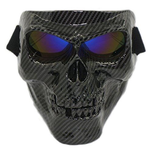 Vhccirt Máscara del casco de la motocicleta spooky decoración máscara del cráneo esquí/motocross / paintball/airsoft máscara protectora parca cara de halloween fantasma cos máscara