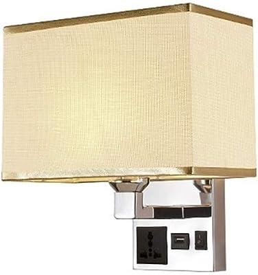 Modern Minimalist Creative Bedside Wall Lamp With USB Connector Led Hotel Corridor Study Bedroom Lamp,Beige