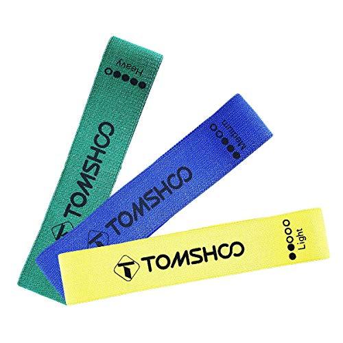 TOMSHOO - Bandas de Resistencia (4 Unidades) para Entrenamiento en 4 Diferentes Grosores de Resistencia, Ideal para Desarrollo Muscular, Fisioterapia, Pilates,Yoga, Gimnasia y Crossfit
