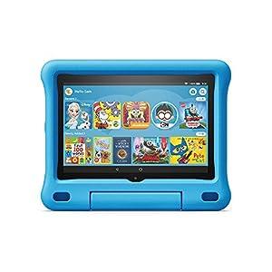 Fire HD 8 Kids tablet, 8″ HD display, 32 GB, Blue Kid-Proof Case