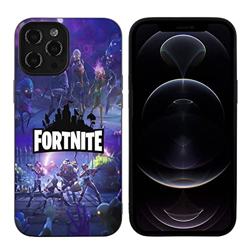 Fortnite iPhone 12 Case 3D Print Fashion Cartoon Case TPU Shockproof Drop-Proof Scratch-Proof Slim Protective Case Cover for iPhone 12/Pro/Pro Max/Mini(A,iPhone 12)