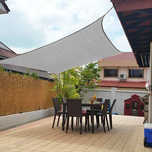 Artpuch Sun Shade Sails Canopy, 185GSM Shade Sail UV Block for Patio Garden Outdoor Facility and Activities (10'x13', Grey)