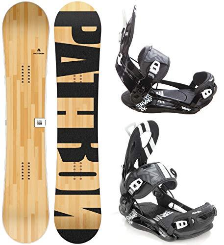 Pathron Snowboard Set: Snowboard Slash 2020 + Bindung Raven Fastec FT500 (155cm + FT500 Black L)
