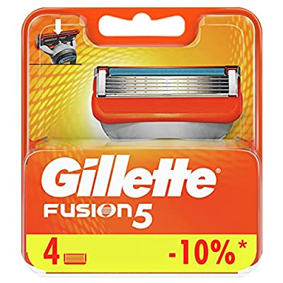 Gillette Fusion5 Razor Blades for Men with 5 Anti-Friction Blades for A Shave You Barely Feel